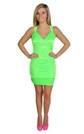 dress Neon green club