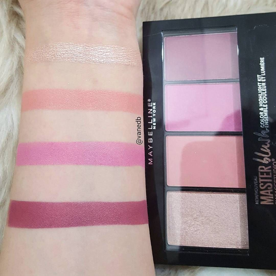 """256 Likes, 9 Comments - Vanessa (@vanedb) on Instagram: """"Swatches of this @maybelline Master Blush palette  #beautyblogger #beautybloggers #makeupwhore…"""""""