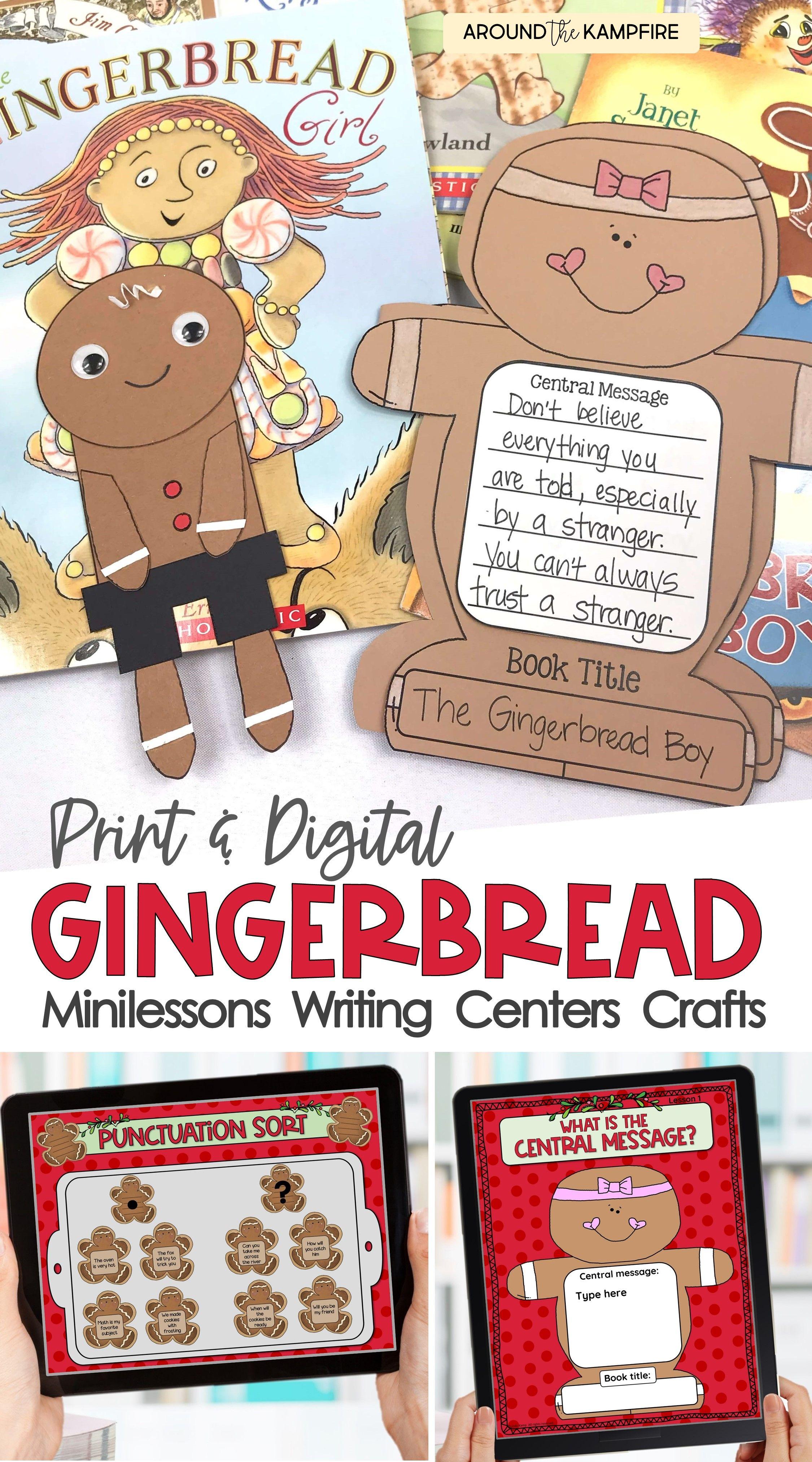 Gingerbread Man Activities Teaching Slides Centers Crafts Digital Classroom Christmas Activities Gingerbread Man Activities December Classroom Activities [ 4050 x 2250 Pixel ]