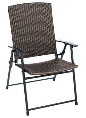 set of 4 living accents folding wicker patio chairs frs50852