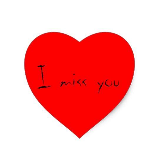 I Miss You Heart Shape Stickers Imissyou