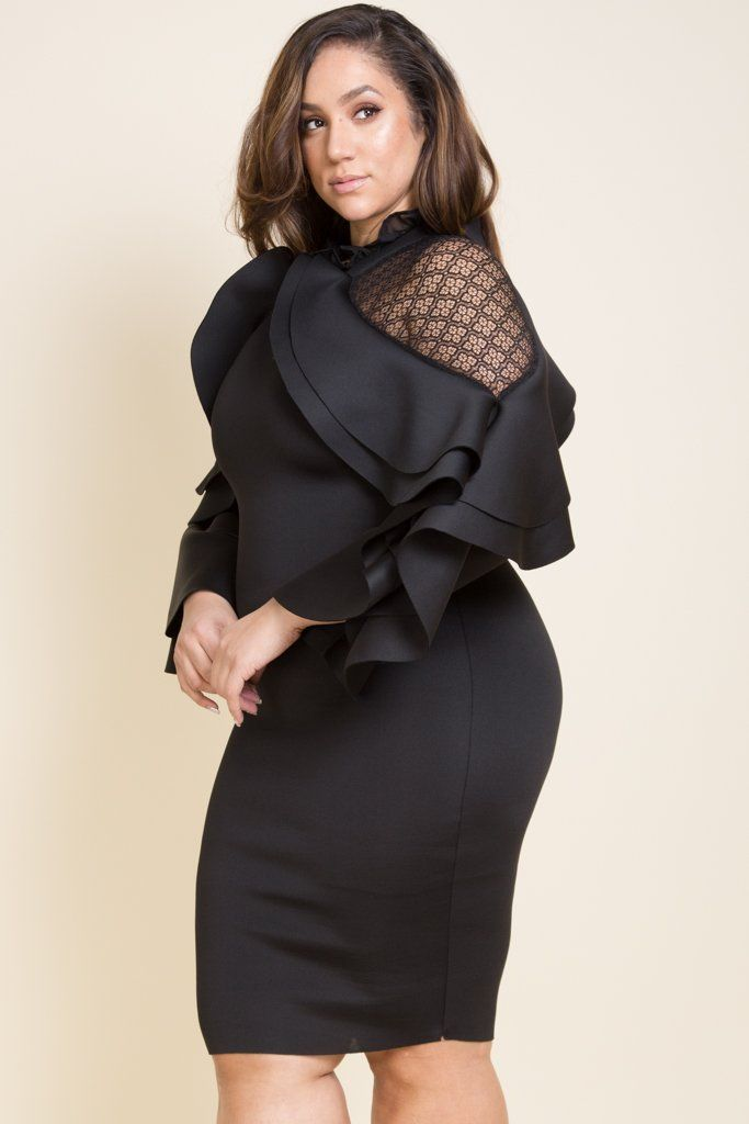 Plus size elegant maxi dress | Curvy woman slayed in 2019 | Dresses ...
