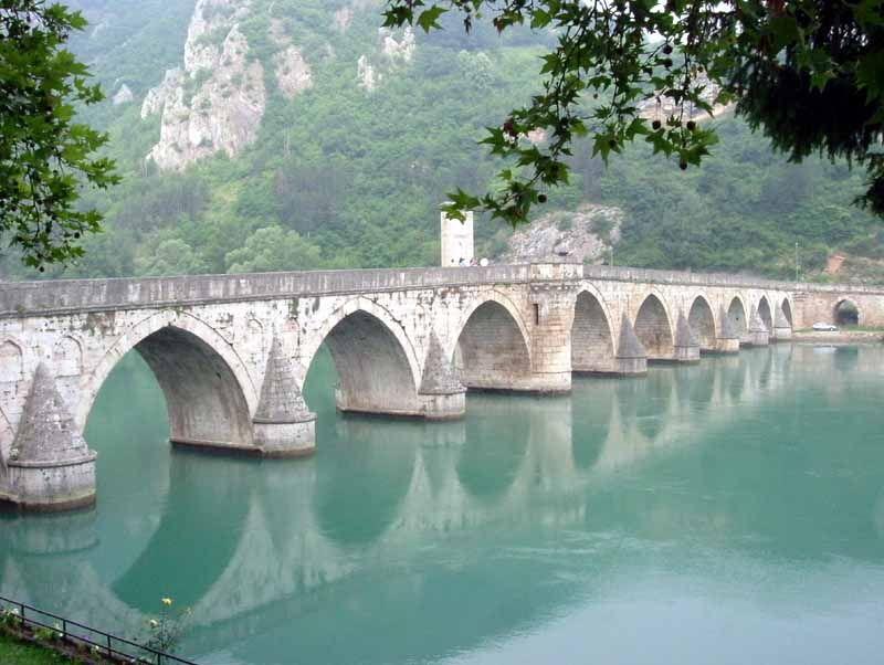 The Mehmed Paša Sokolović Bridge in Višegrad, protected by UNESCO ...