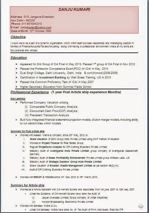 examples of good resumes Sample Template Example ofExcellent