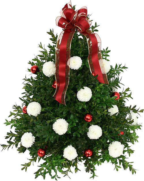 Christmas Flower Arrangements | Boxwood Floral Christmas Tree / Fair Hill  Florist