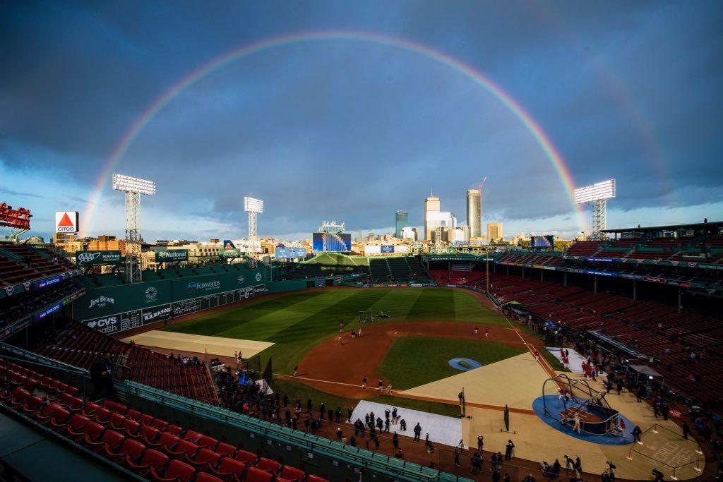 Rainbow over Fenway, Boston vs Los Angeles, Game 1, 24