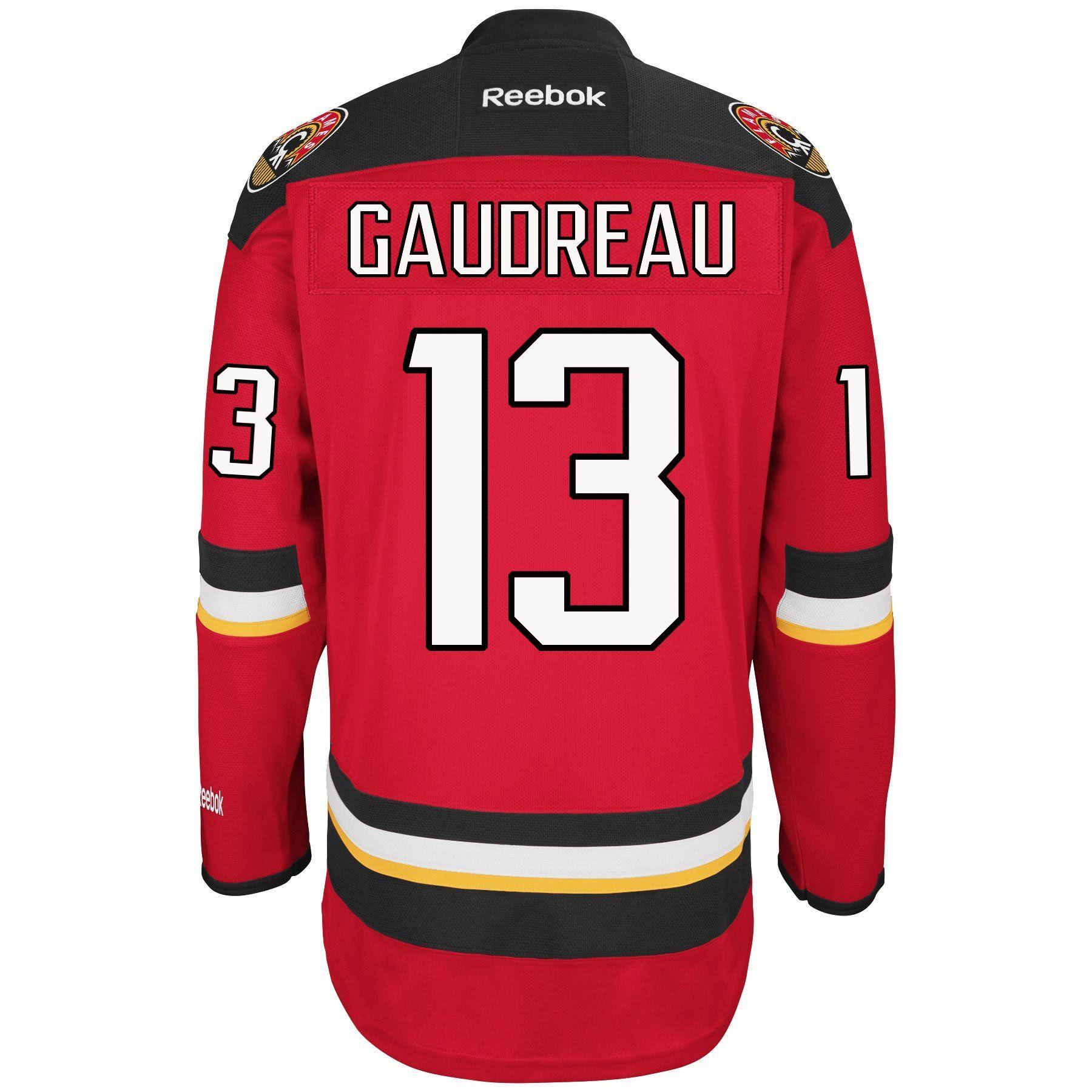 newest 1561a ca08a Johnny Gaudreau Calgary Flames Reebok Premier Replica ...