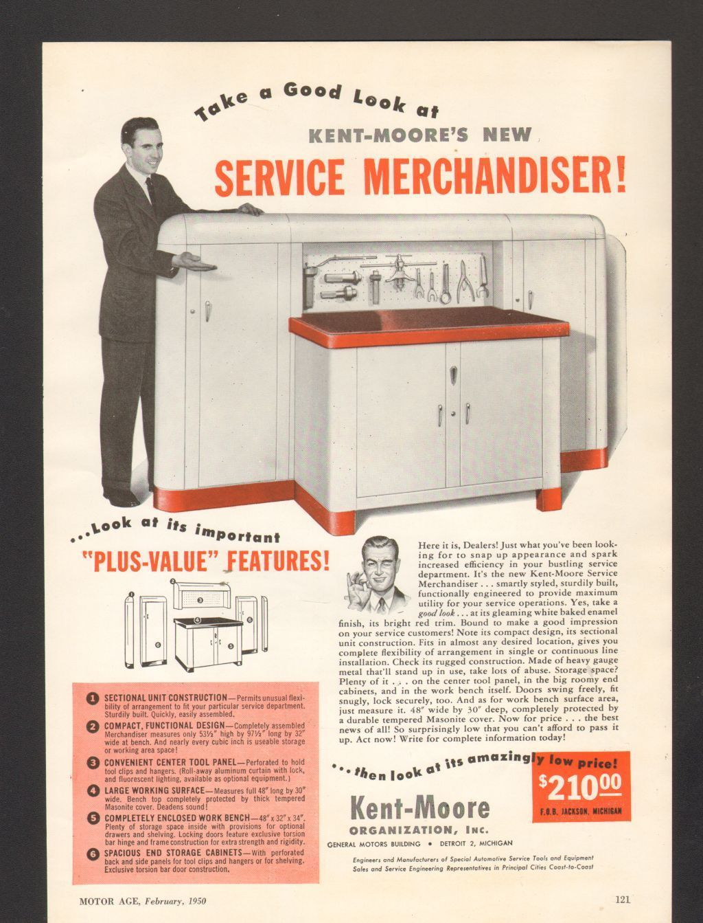 Remarkable Kent Moore Work Station Ad 1950 Cool Garages Tool Box Uwap Interior Chair Design Uwaporg