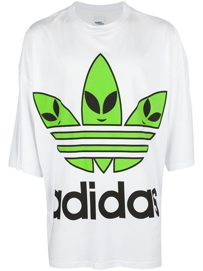 size 40 4eb8b d1904 ADIDAS ORIGINALS BY JEREMY SCOTT - oversize alien logo t-shirt 7