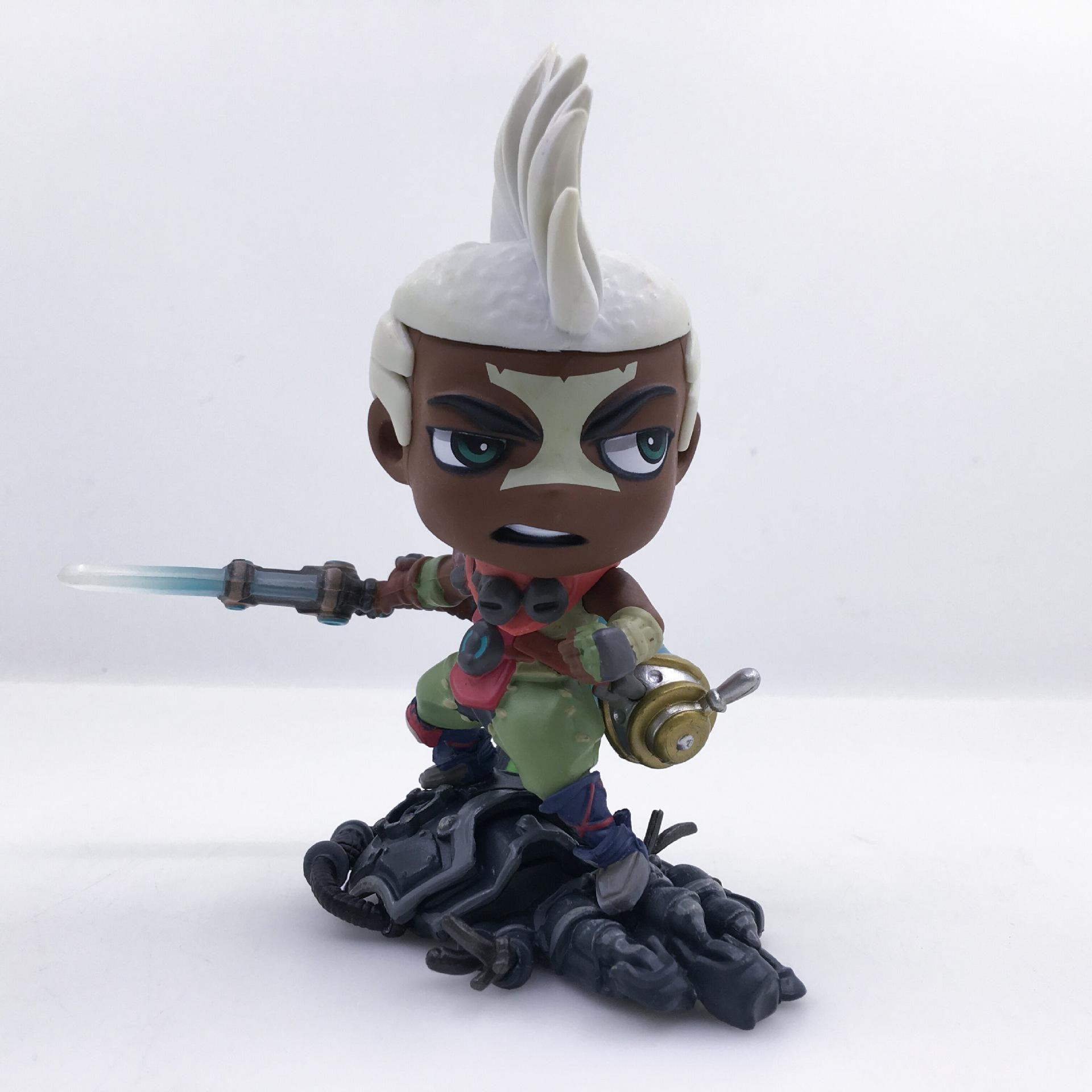 10cm League of Legends LOL Ekko Character Model PVC figure figures doll Toy \