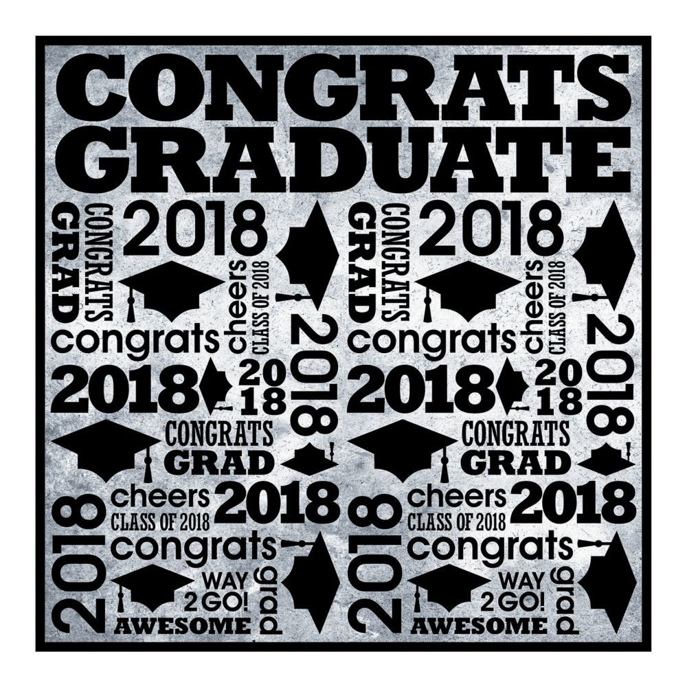 Rad Grad 2018 Plastic Backdrop Banner | Backdrops and Banners