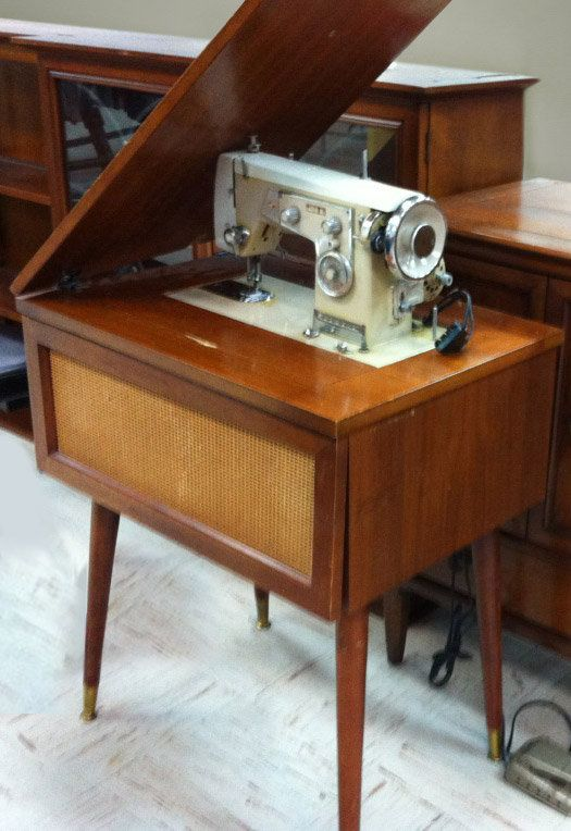 Mid Century Modern Sewing Machine Table