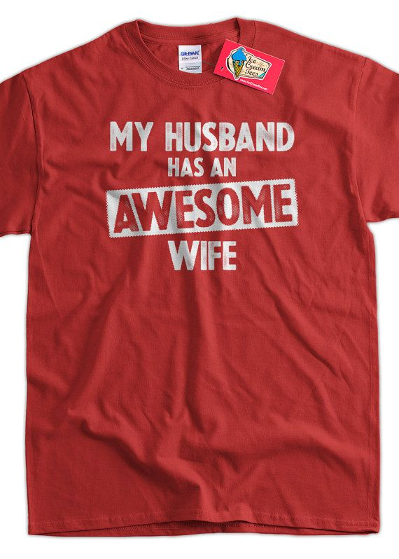 Funny Wedding Shirt Anniversary Gift My Husband Has An Awesome ...