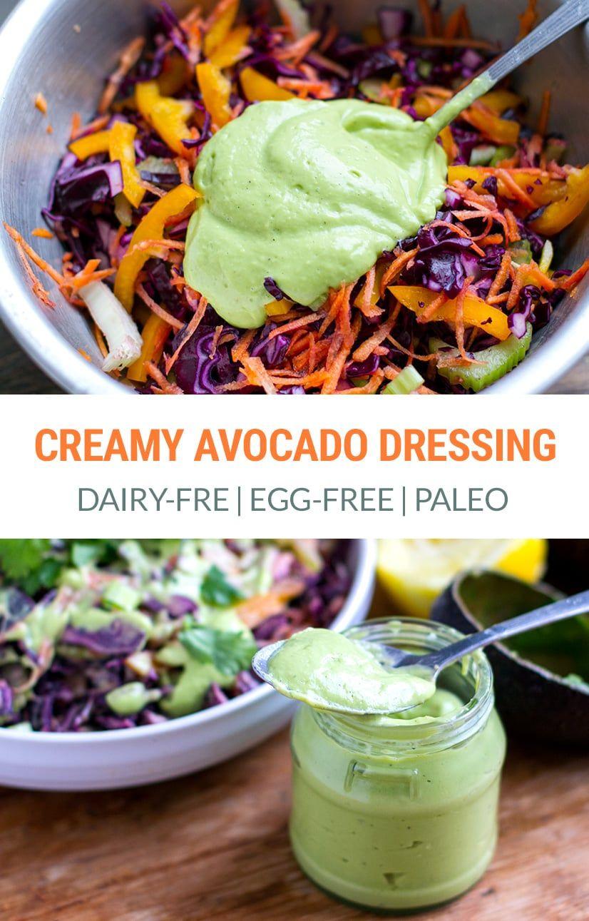 Creamy Avocado Dressing (Dairy-free, Egg-Free) | Paleo, Vegan, Keto |