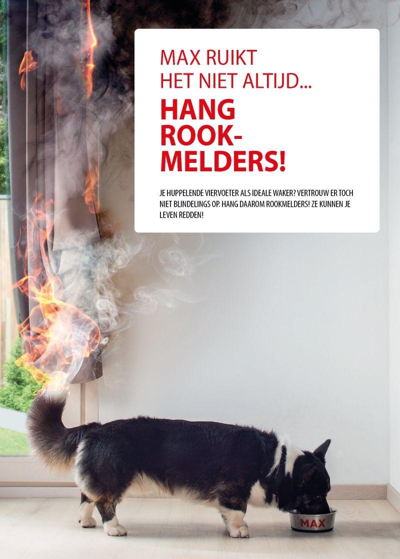 Max ruikt het niet altijd is een campagne voor het hangen van rookmelders van de brandweerzones van de provincie West Vlaanderen.