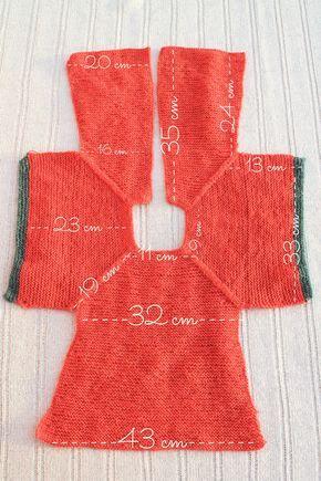 medidas patrón chaqueta punto niña talla 2 | Detalles | Pinterest