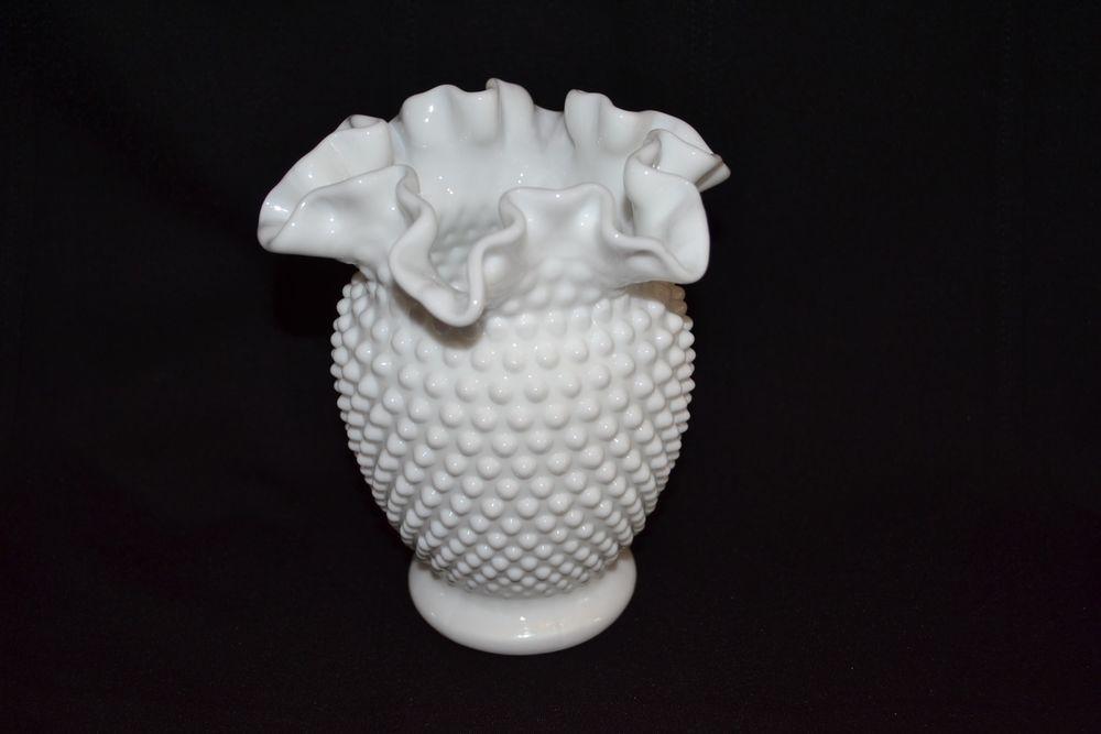 White Milk Glass Hobnail Vase Milk Glass Pinterest Milk Glass
