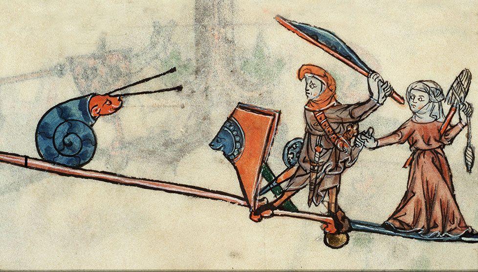 Les escargots féroces | Art médiéval, Art roman, Enluminure