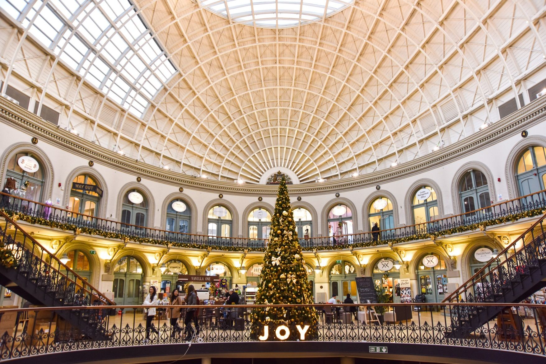 Leeds Corn Exchange in Christmas