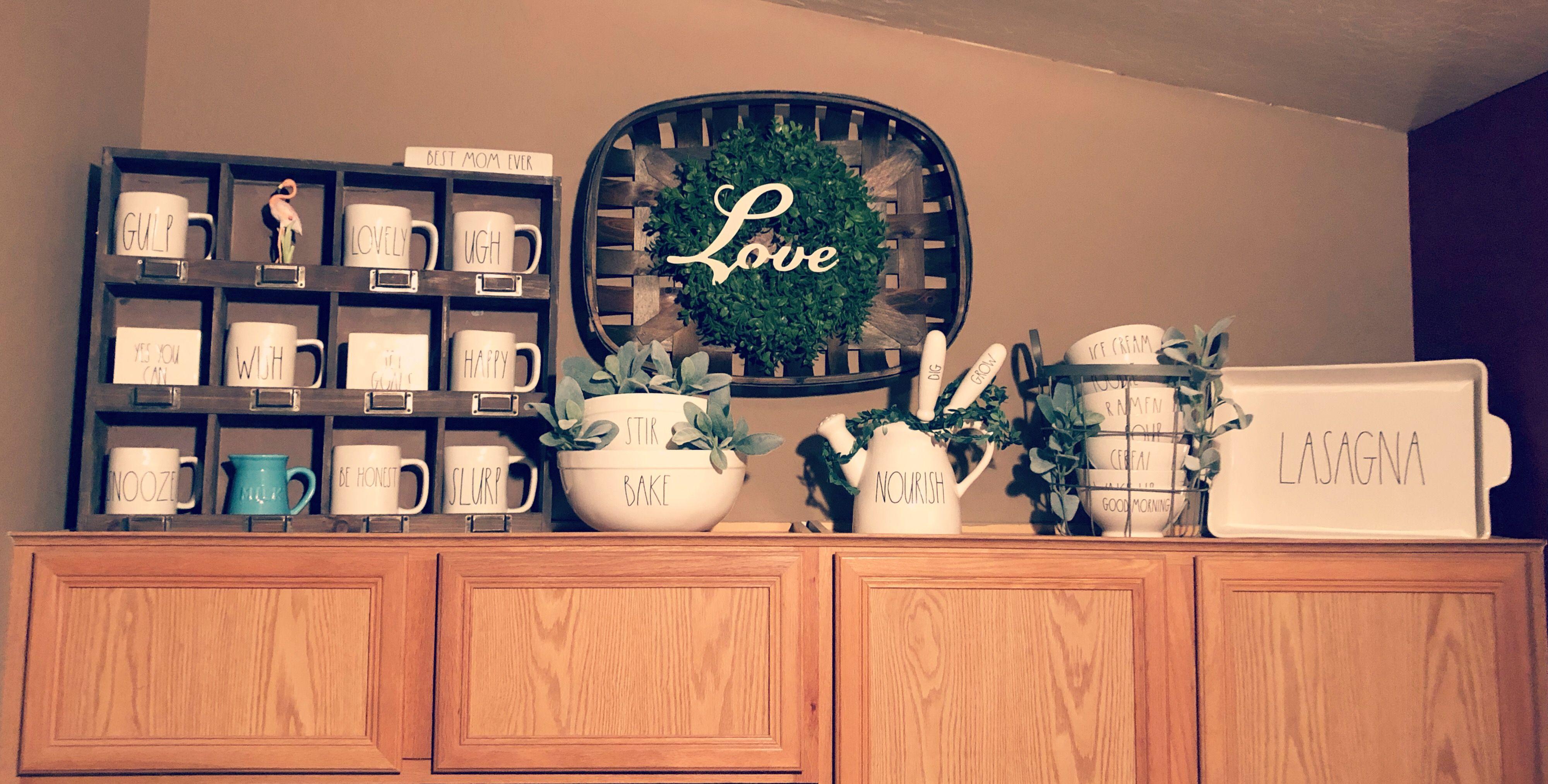 Rae Dunn Kitchen Cabinets Decor Top Of Kitchen Cabinets Top Of Kitchen Cabinets Decor