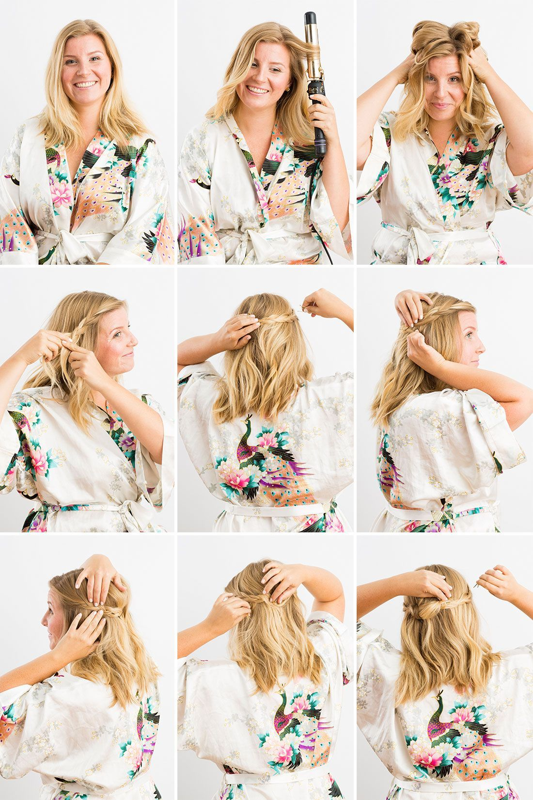 DIY a wavy half-up braid with these instructions. #QuickHairstyleTutorials | Half up hair do ...