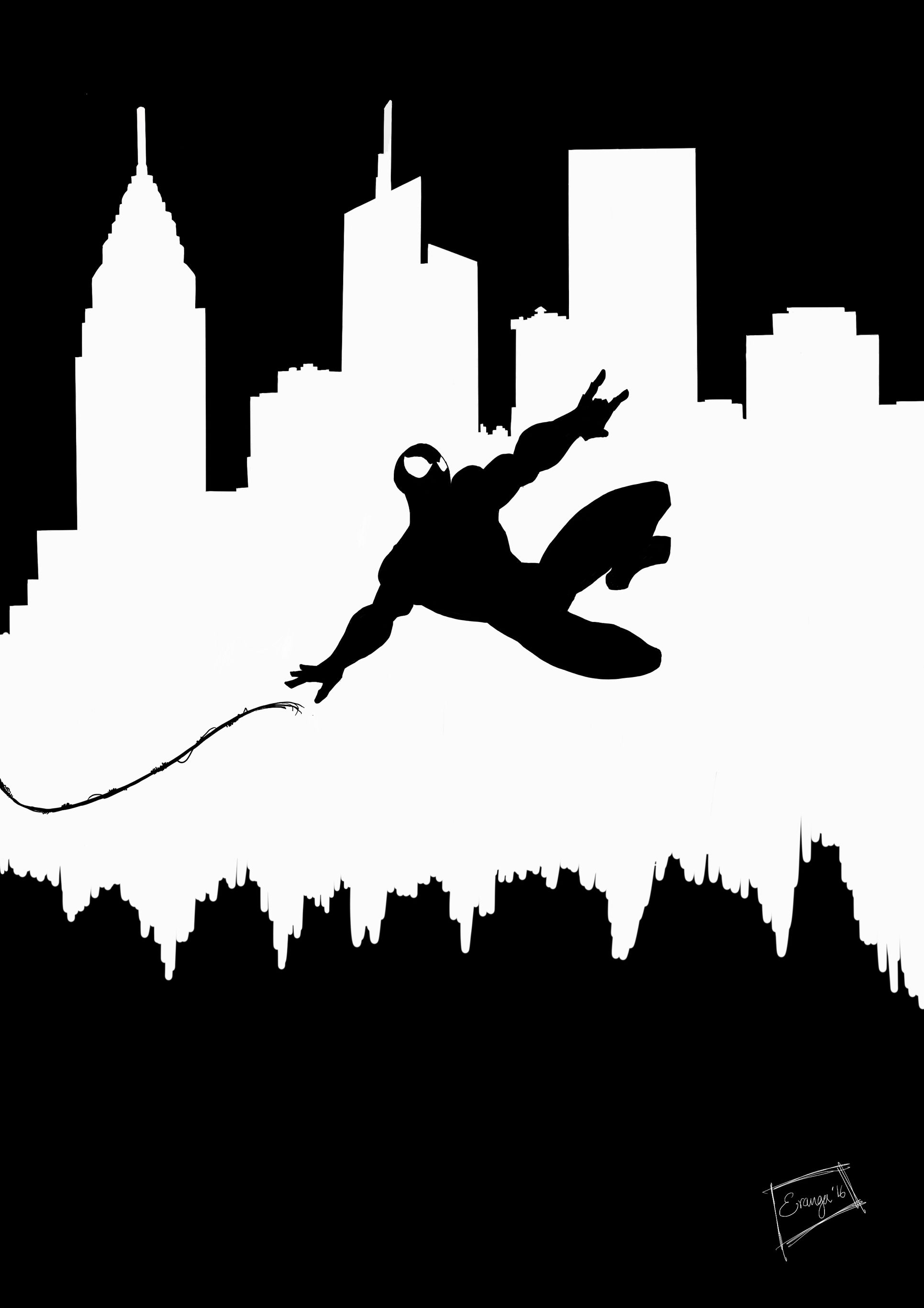 Spider Man My Artwork Silhouettes Spiderman Wall