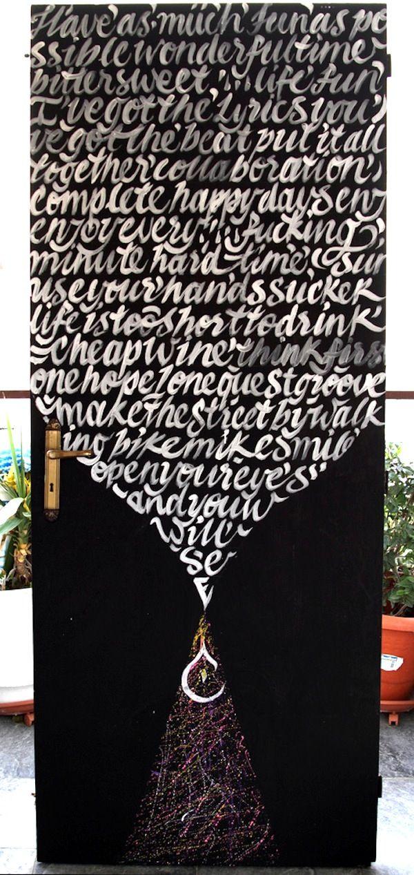 The 'Calligraffiti' of Greg Papagrigoriou -Insanity on Walls