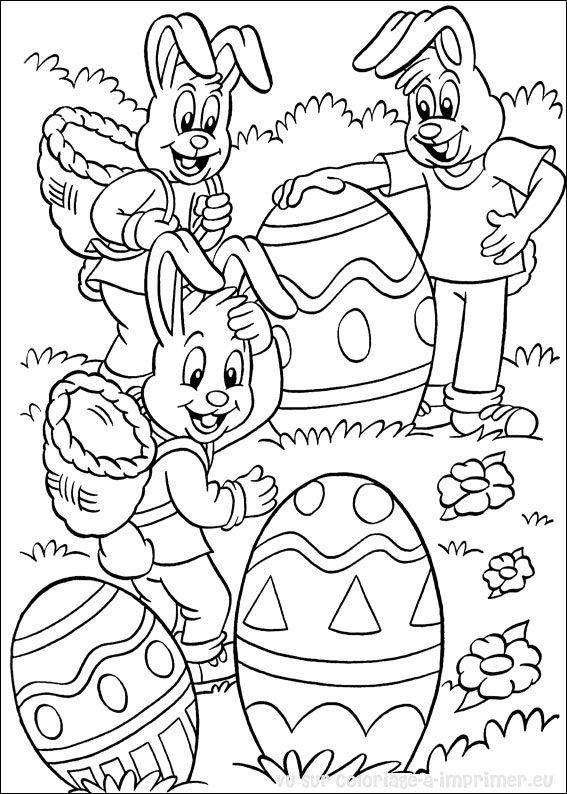 Coloriages de p ques 2 activit astuces coloriage paques maternelle paques et dessin p ques - Coloriages paques ...