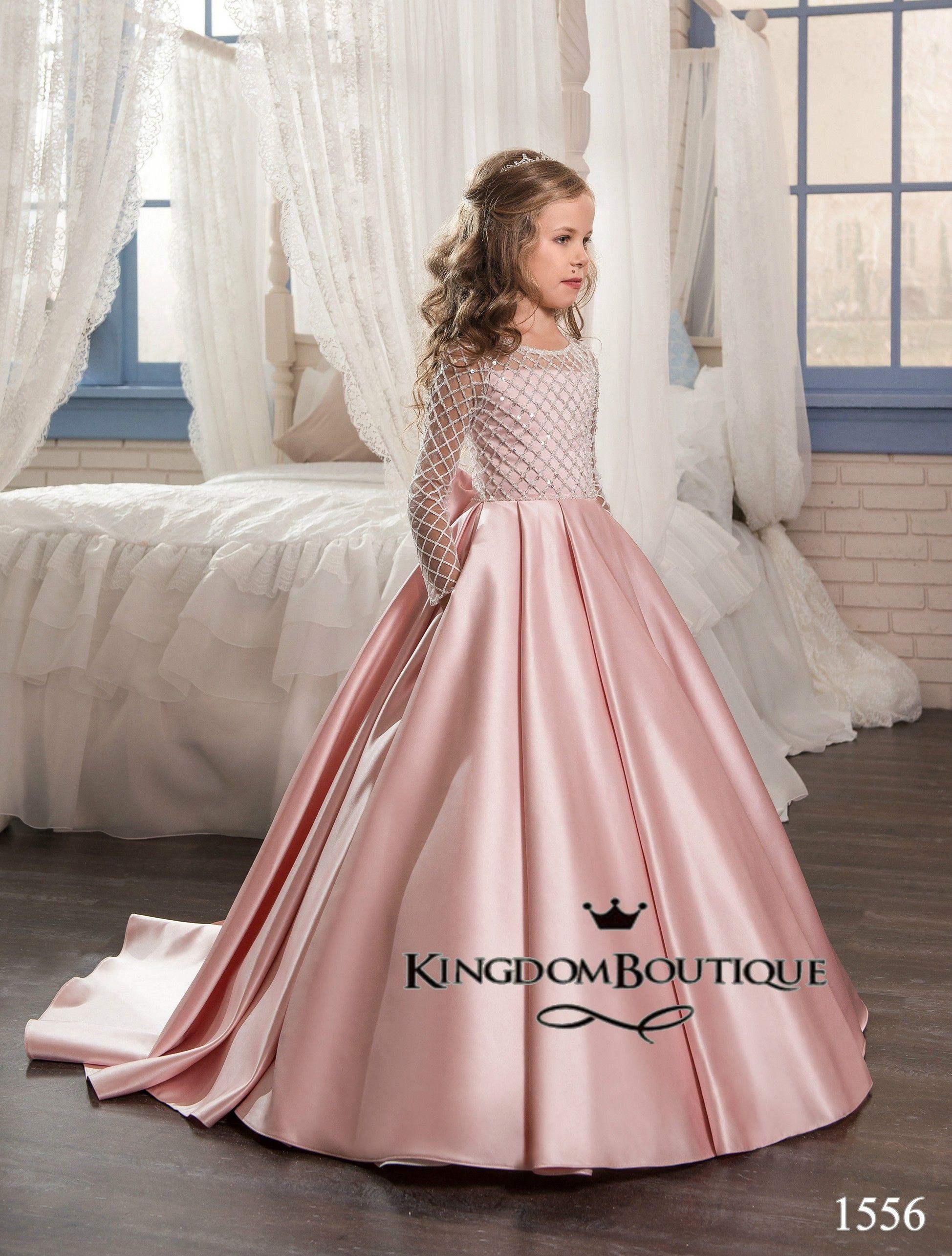 3c9cccfffbe Flower girl dress 16-1556 - kingdom.boutique in 2019
