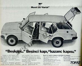 Fiat 131 Sw Tofas Murat 131 Kartal Turkish Ad Klasik Reklamlar Araba Klasik Arabalar