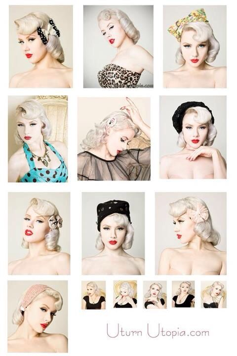 Great vintage Pinup hair styles for those of us girls with Bangs! 356a3da0b4