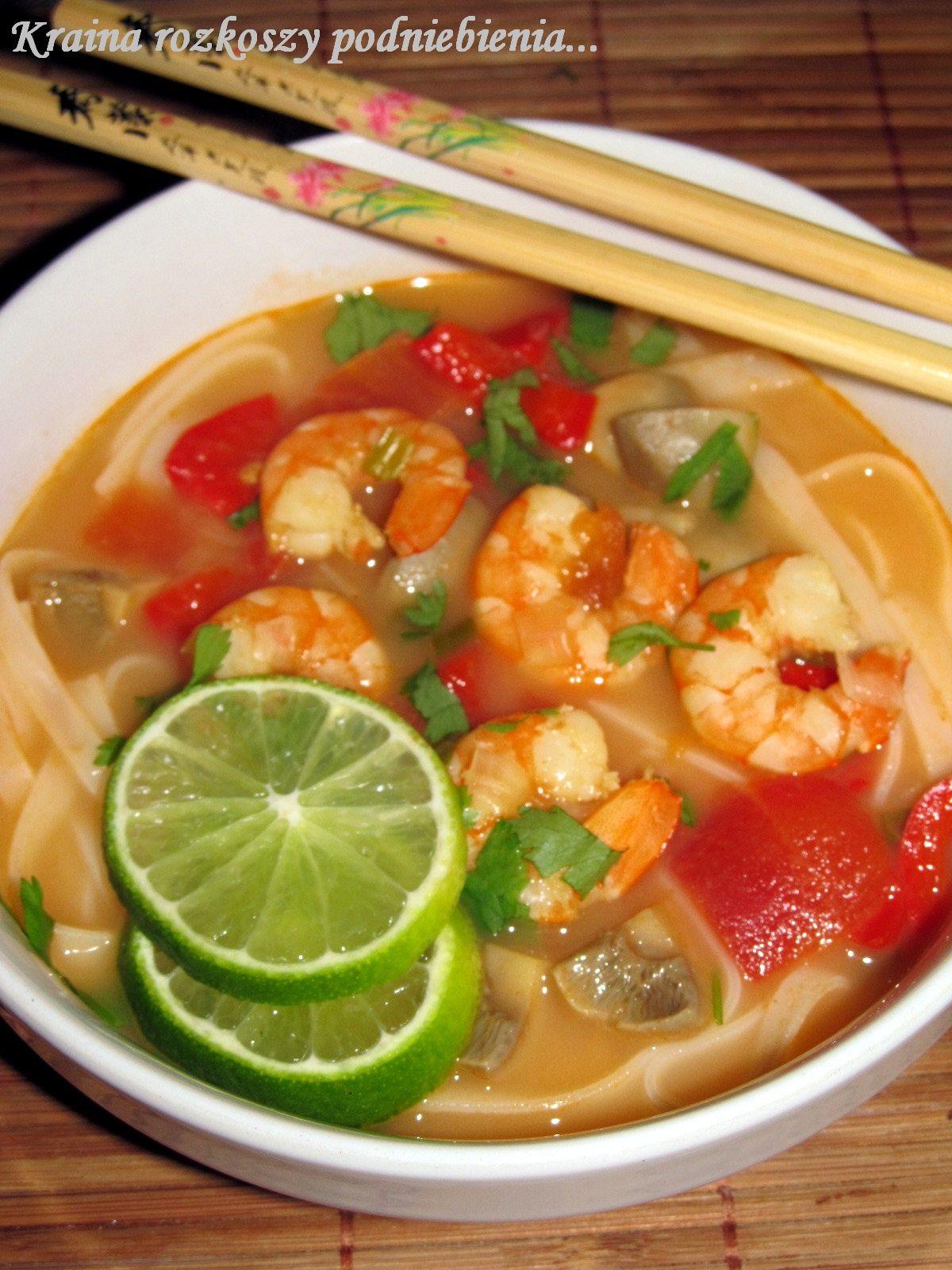 Kraina Rozkoszy Podniebienia Tom Yum Kung Czyli Tajska Zupa Z Krewetek Tom Yum Kung Yum Cooking Recipes