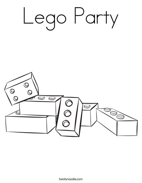 Lego Party Coloring Page Birthday Coloring Pages Free Kids