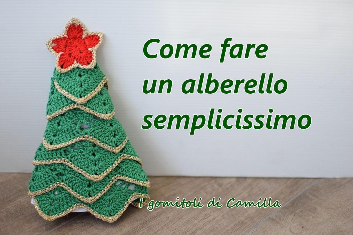 Albero Di Natale Alluncinetto Semplicissimo.Come Fare Un Alberello Di Natale Semplicissimo Natale Uncinetto