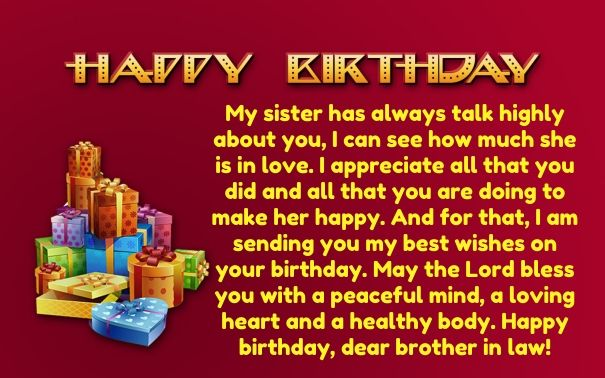 40 Birthday Wishes For Brother In Law With Images With Images
