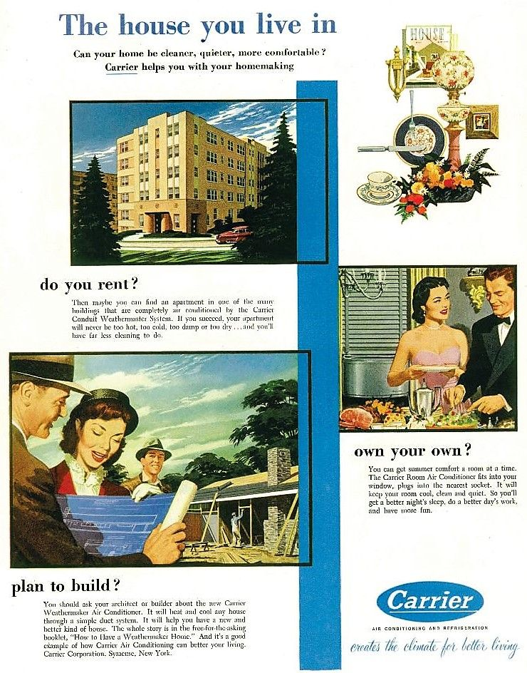 1962 Carrier products made for you. this ad let consumers