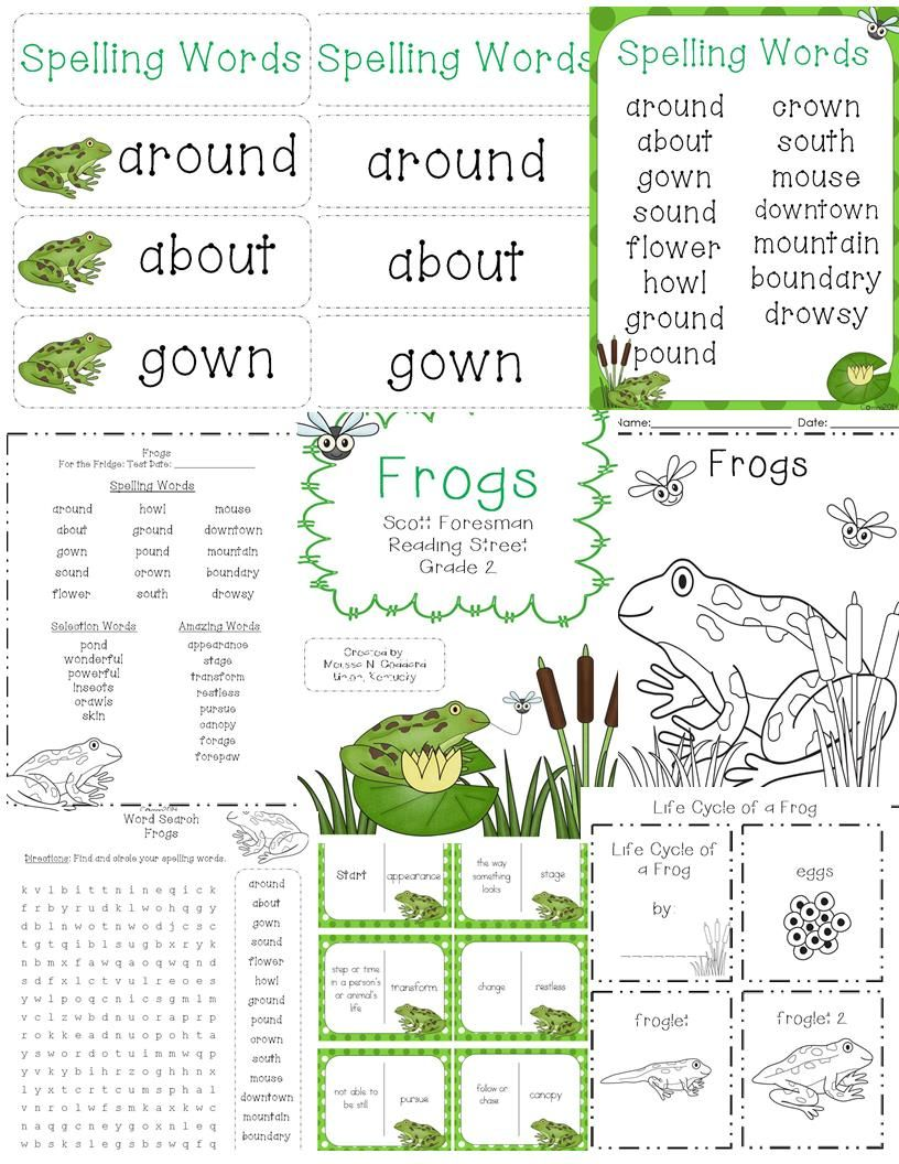Frogs Reading Street Grade 2 Kindergarten Worksheets Sight Words 2nd Grade Reading Worksheets 2nd Grade Reading Passages Reading street grade soil