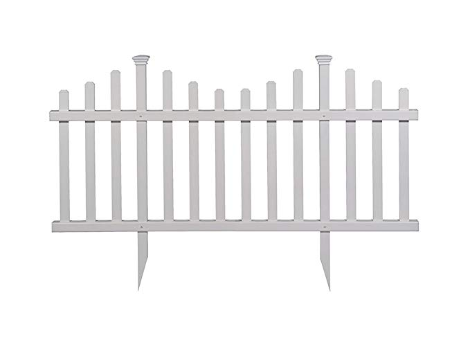 Amazonsmile Zippity Outdoor Products Zp19001 Picket Fence 1 X Pack Of 2 White Garden Outdoor Vinyl Fence Vinyl Picket Fence Vinyl Fence Panels