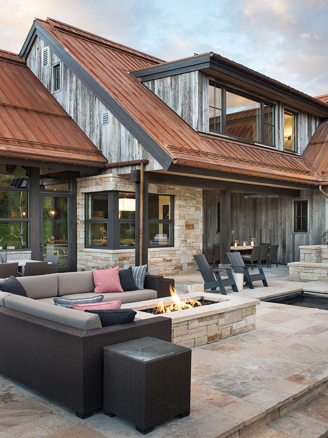 20 Unbelievable Modern Home Exterior Designs: Amazing Rustic Mountain Farmhouse Decorating Ideas