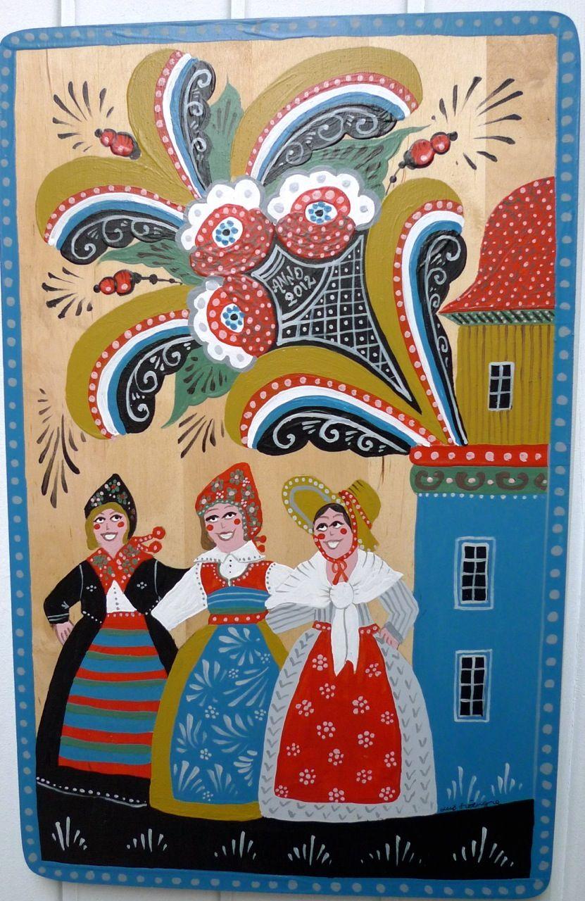 Swedish Folk Art Scandinavian Folk Art Scandinavian Art Modern Folk Art