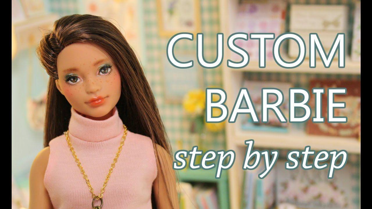 CUSTOM Barbie Fashionista -  tutorial step by step