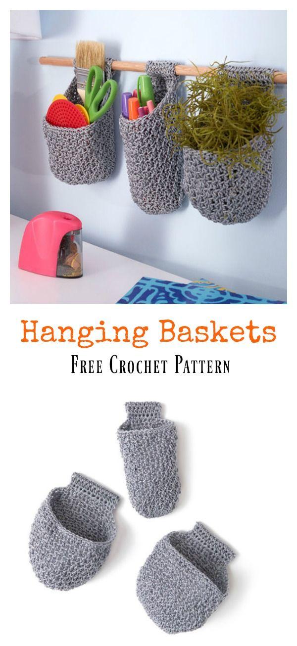 Hanging Baskets Free Crochet Pattern | Pinterest | Rústico, Macetas ...
