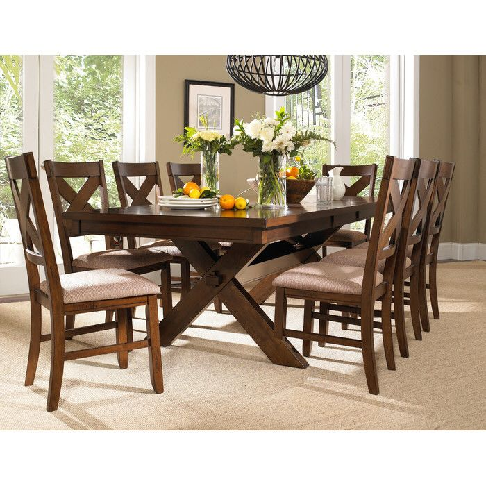 Isabell Extendable Solid Wood Dining Set With Images Wooden