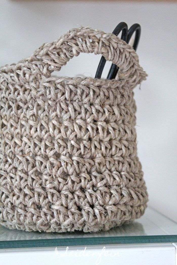 Seidenfeins Dekoblog Häkelkörbchen Aus Paketschnur Crochet A