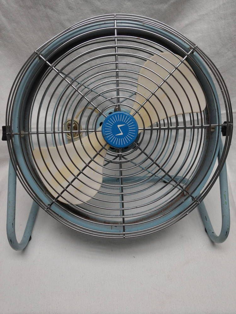 Rare Vintage 2 Bladed Superior Floor Fan 12 Blades Vintage Fans Floor Fan Antique Fans