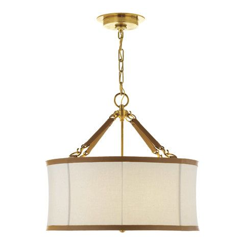 Broomfield Small Pendant In Natural Brass Ceiling Fixtures