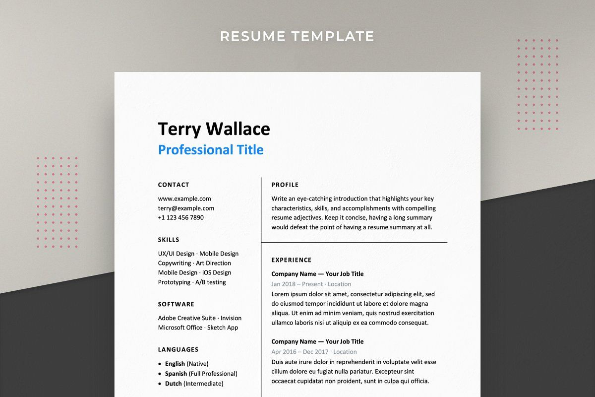 Hired Resume Template CV in 2020 Resume template