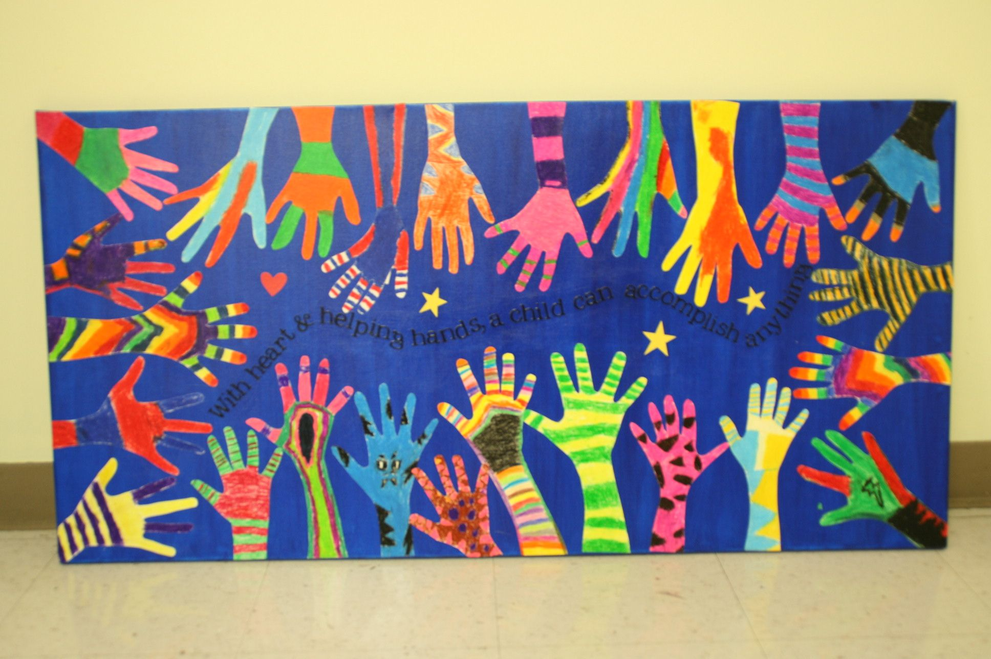 Classroom Art Ideas ~ Class art projects for auction project