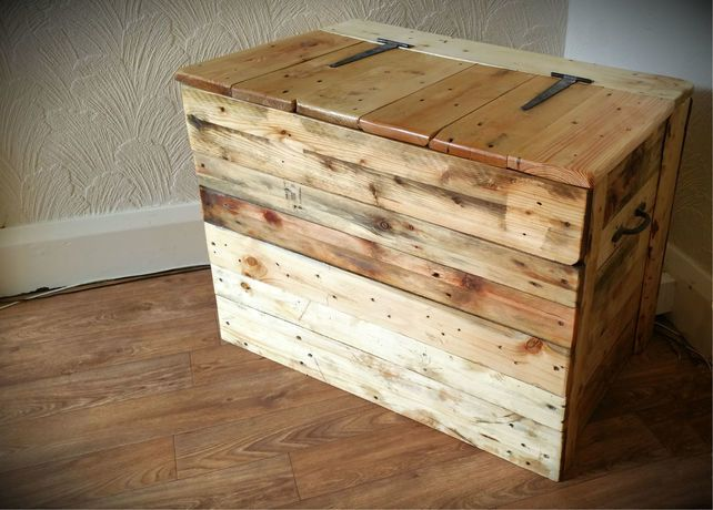 Natural Wood Blanket Chest £80.00
