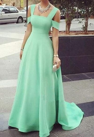 Two Piece A Line Tulle Sexy Party Prom Dress new style fashion ...
